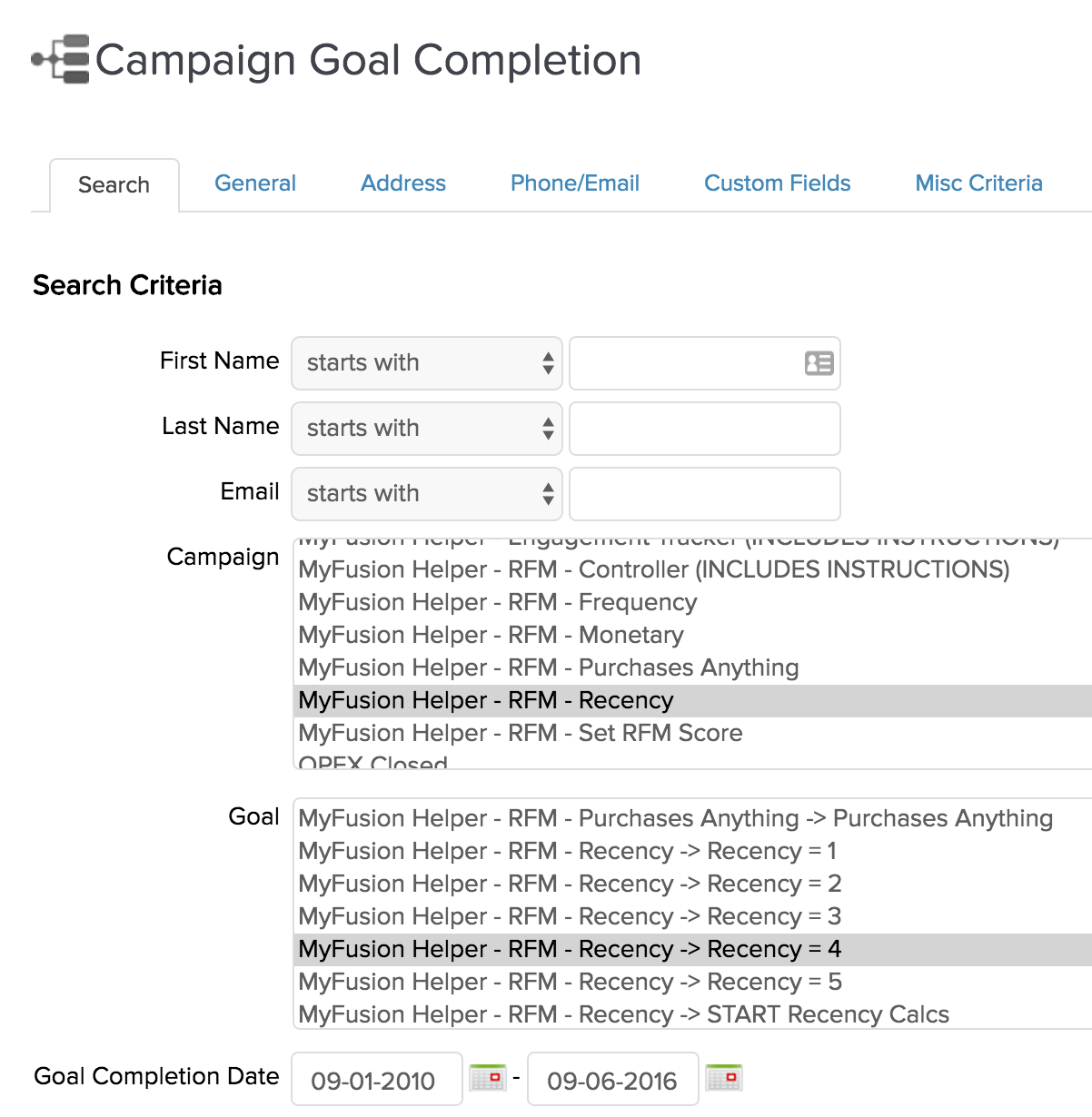 campaign-goal-completion-report